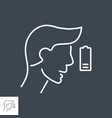 fatigue related thin line icon vector image