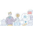 financial advisor - modern line design style vector image
