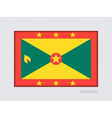 Flag of Grenada Official Flag Proportion of 2 to 3 vector image vector image