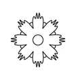 Flower icon isolated vector image vector image
