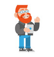 friendly hipster vector image vector image
