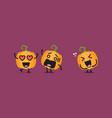 funny pumpkin character vector image vector image