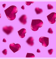 glass polygonal heart random seamless pattern vector image