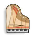 grand piano opened realistic black grand vector image