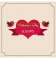 greeting card happy valentines day in old vector image