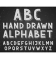 hand drawn doodle sketch alphabet letters vector image vector image
