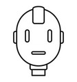 head robot icon outline style vector image vector image