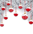Holiday Snowing Background with Silver Fir vector image vector image