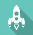 Icon of rocket vector image