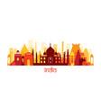 india architecture landmarks skyline shape vector image