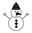 isolated snowman icon vector image