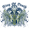 king death skull vector image vector image