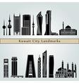 kuwait city v2 landmarks vector image vector image