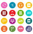learning foreign languages icons many colors set vector image vector image