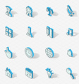 Light isometric flat design icon set vector image vector image