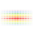 lock spectral halftone matrix vector image vector image