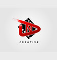 movie play letter n logo design concept template vector image vector image