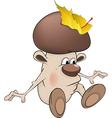 Mushroom the wizard vector image