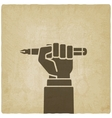 office worker hand with pen vector image vector image