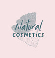 palm leaves cosmetic logotype template vector image vector image