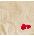 Red hearts on vintage paper EPS 10 vector image vector image