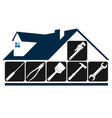 repair and maintenance house tool symbol vector image vector image