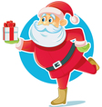 Santa Claus Holding Gift Box vector image