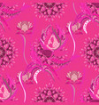 seamless floral pattern with doodles flowers on vector image vector image