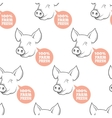 Seamless Pattern with pig vector image vector image