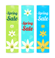 Set of colorful spring season sale banner vector image