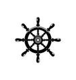 ship steering wheel contour vector image vector image