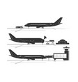 silhouettes aircraft at airport vector image vector image