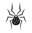 spider icon simple style vector image vector image
