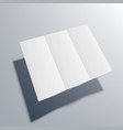 square blank open three fold brochure or leaflet vector image