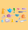 stickers with ware images vector image vector image