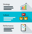 Strategy culture performance business template vector image