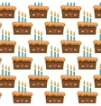 sweet cake character icon vector image