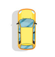 top view modern city car isolated icon vector image