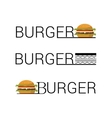 Unusual Burger shop icon logo design vector image