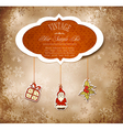 vintage christmas background vector image vector image