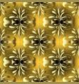 vintage gold 3d damask seamless pattern vector image vector image
