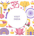 visit india concept background in flat style vector image