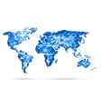 World Map polygonal precision low-poly blu vector image vector image
