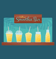 yellow vegan diet smoothie and cocktail set vector image