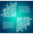 vintage circular pattern of indian vector image
