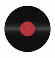 vinyl record blank realistic vinyl disc mockup on vector image