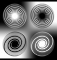 abstract black and white holes in line technique vector image