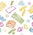Sketch Seamless Pasta Pattern vector image