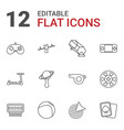 12 game icons vector image vector image