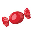 a cartoon red candy vector image vector image